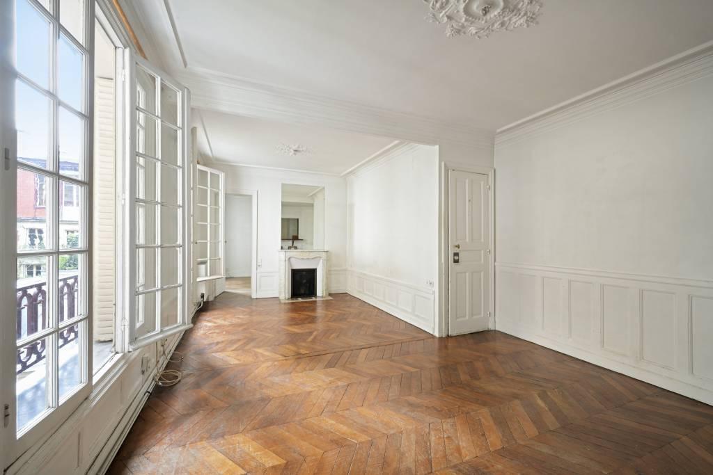 Hallway Wooden floor Fireplace
